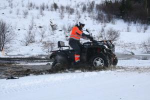 ATV the view friend in iceland