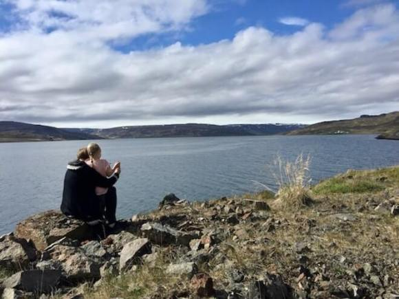Strandir adventure - lake view - friend in iceland