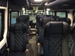 Mercedes Benz Sprinter interior - Friend In Iceland