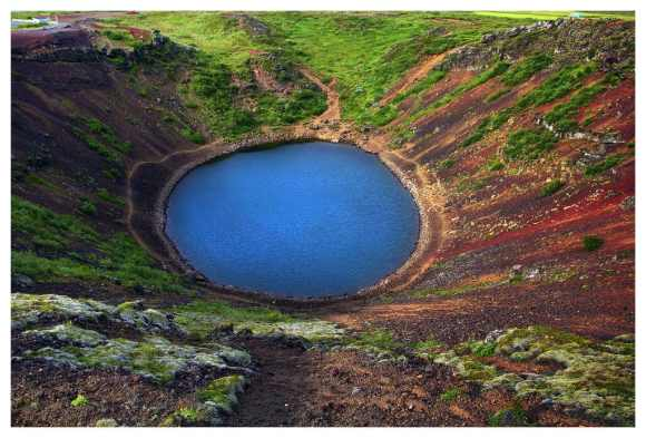 The golden circle - The crator from air - friend in iceland