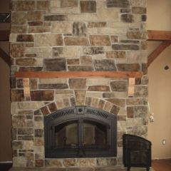 Napoleon NZ6000 Wood Fireplace Stone