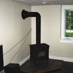Pacific Energy Alderlea Wood Stove installed by Friendly Fires in Kawartha Lakes, Ontario.