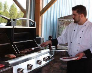 Chef Paul serving us a steak breakfast!
