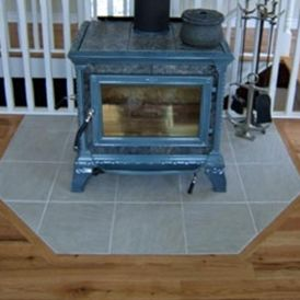 hearth pad tile protection wood stove