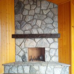Wood Fireplace No Glass