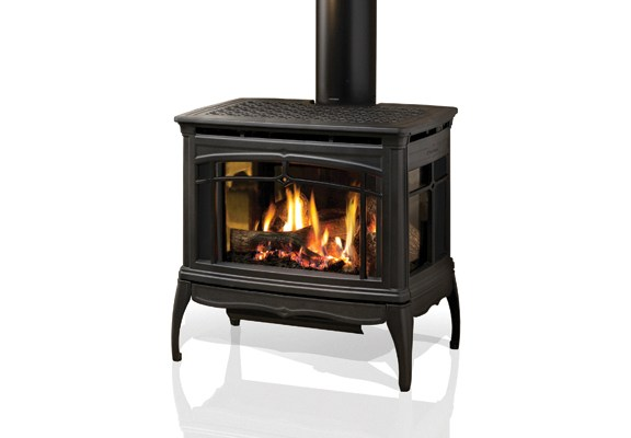 HearthStone Waitsfield Friendly Fires Gas Stove 3 Sided Black