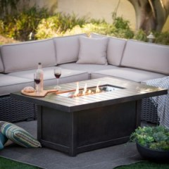 Kingston Showroom - Napoleon Rectangle Outdoor Fire Table Friendly Fires