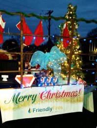 Friendly Fires Musical Float Thrills in Carleton Place and Almonte Santa Claus Parades