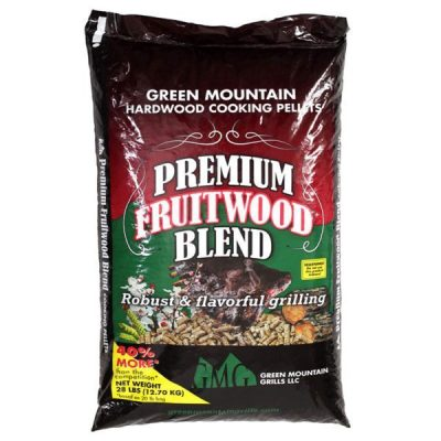 Green Mountain Grill Premium Cooking Pellets Fruitwood Blend | Friendly Fires