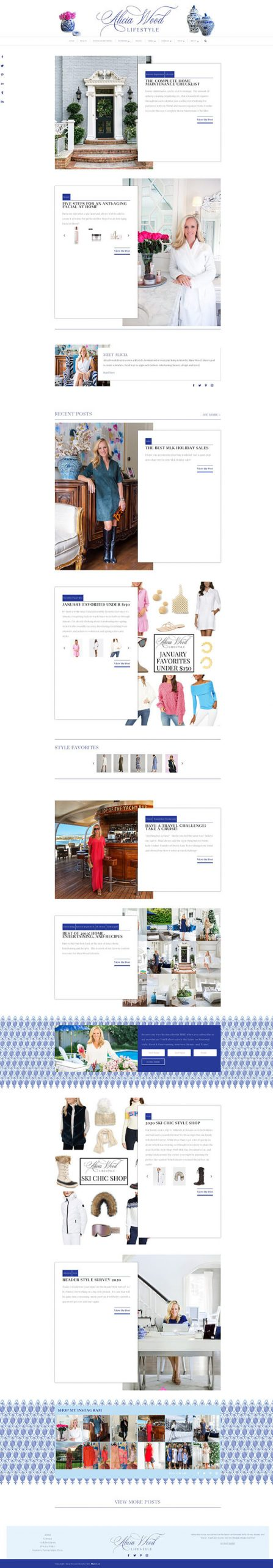Alicia Wood Lifestyle website