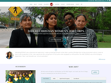 Dallas Christian Women's Job Corps: web design and maintenance