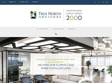 True North Advisors: content updates and website management