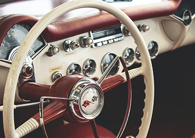 Fancy old-time automobile dashboard