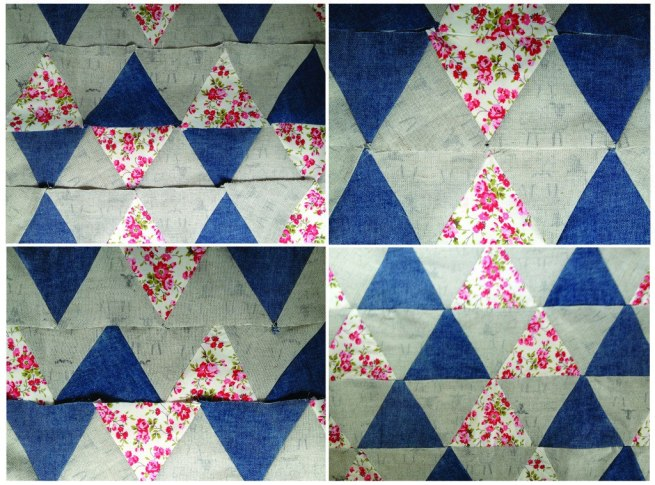 Triangle patchwork variations