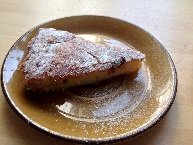 passionfruit & coconut tart slice