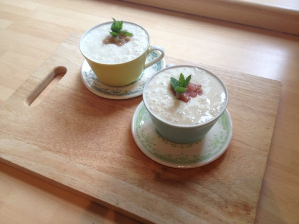 Bill's rhubarb and banana recipe