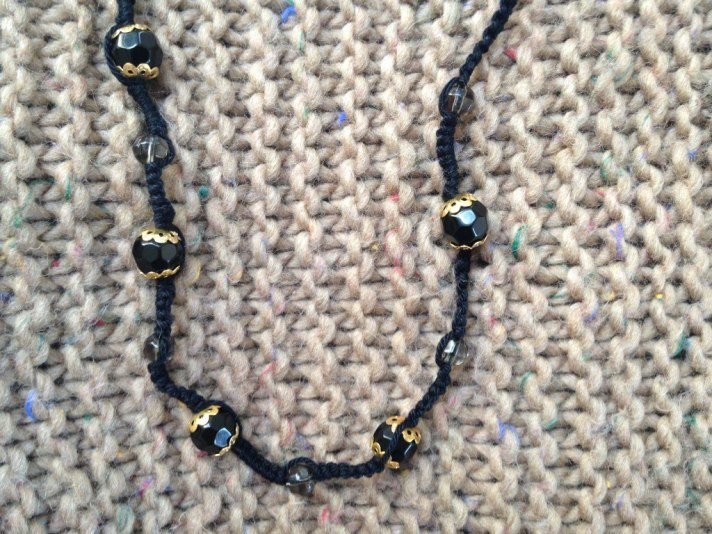 tatted bead necklace DIY