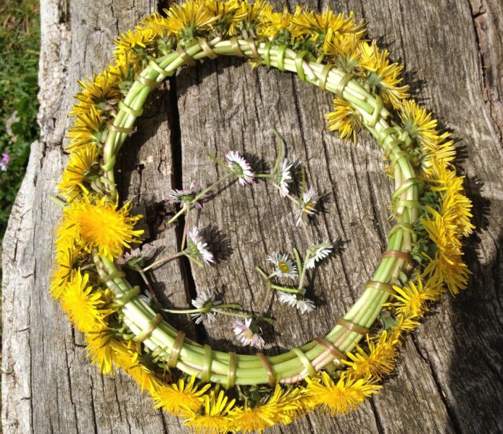 flower garland DIY