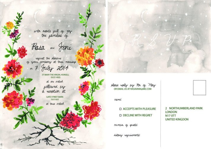 Invites for our wedding