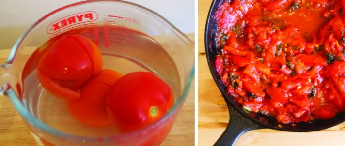 how to peal, deseed and chop tomatoes
