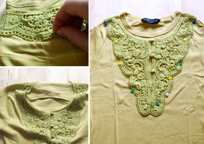 How to attach a lace insert