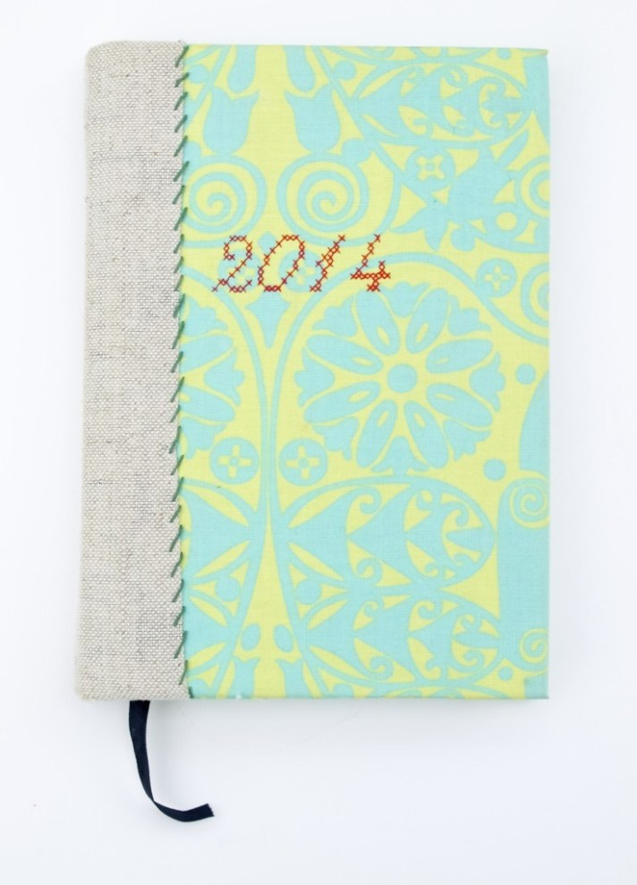 "My new fabric covered ""Dear Diary"" book DIY"