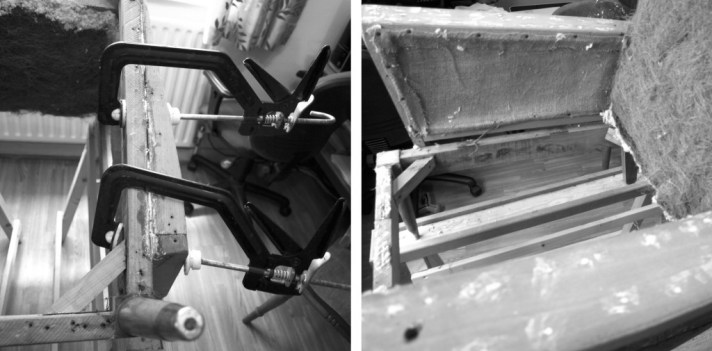Fixing chair frame