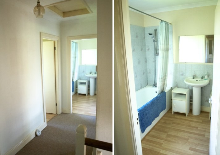 Our new house tour: the corridor and the bathroom