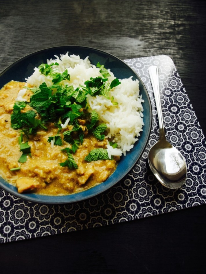 Chicken peanut curry