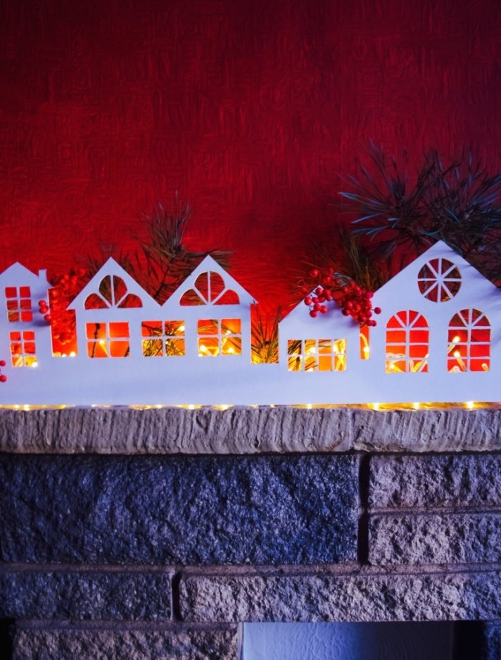Christmass village decoration