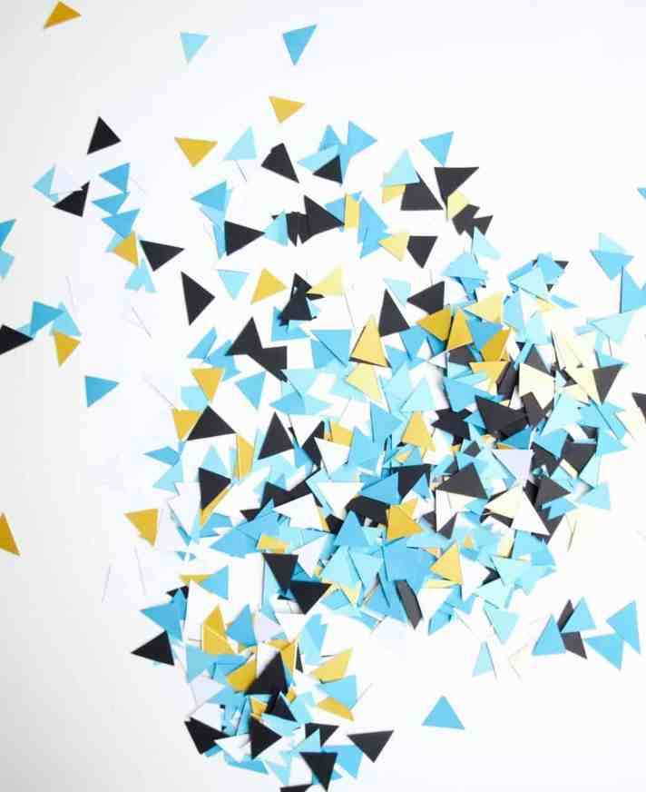 mini triangle confetti diy (no need for punch)