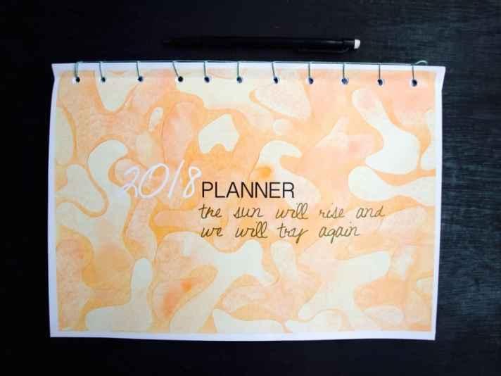 Printable weekly 2018 planner
