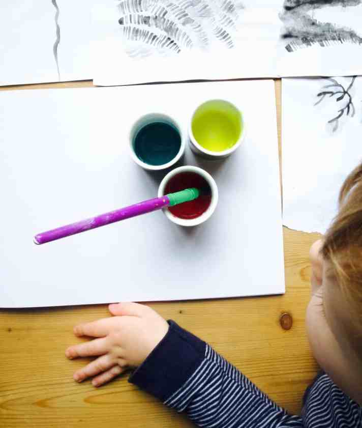 Toddler doodles turned into abstract art