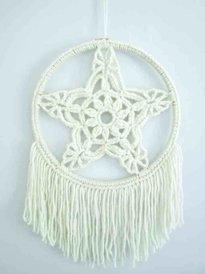 Make your own macrame inspired crochet wall art