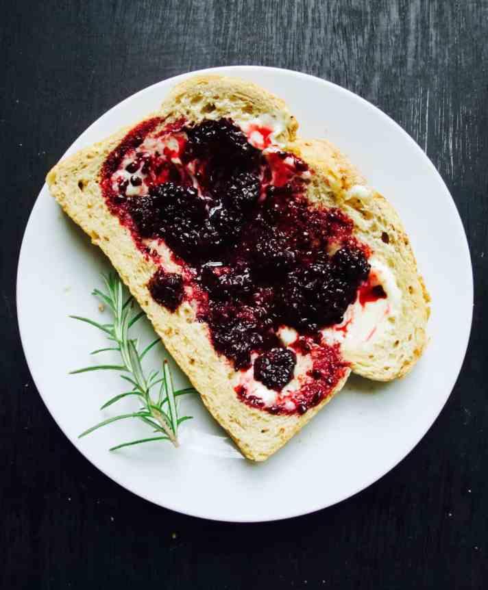 Herb infused jams + rosemary infused blackberry jam recipe
