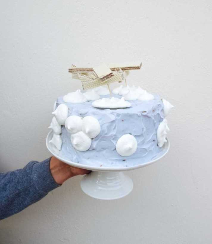 Aeroplane themed birthday cake