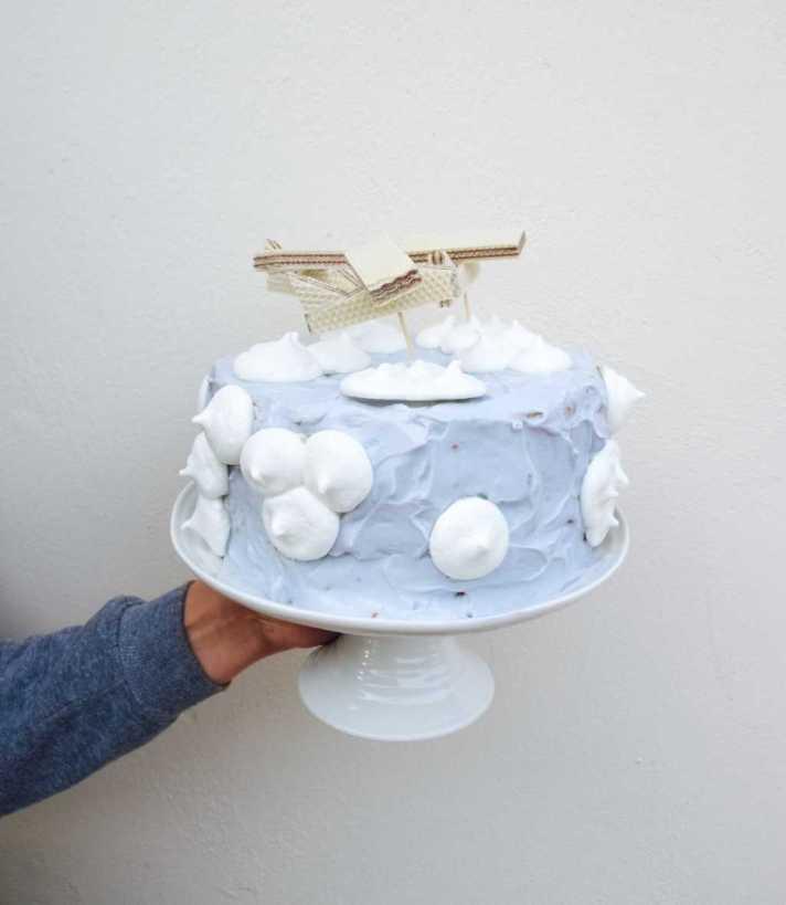 Aeroplane themed birthday cake