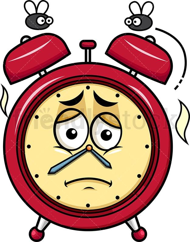 Stinky Alarm Clock Going Bad Emoji