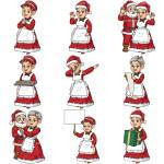 Mrs Santa Claus Clipart Cartoon Vector Friendlystock
