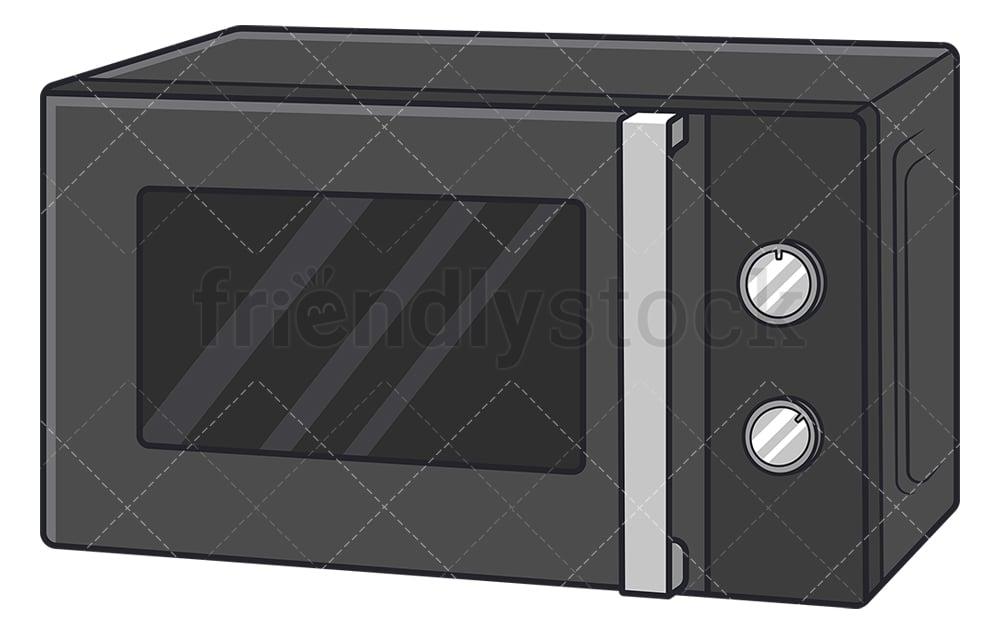microwave oven cartoon vector clipart friendlystock