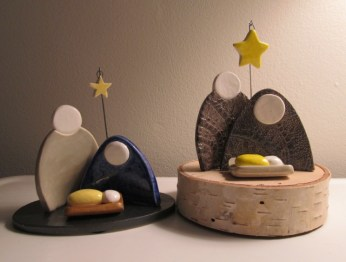 Handmade Clay Nativity - Simple and unique!