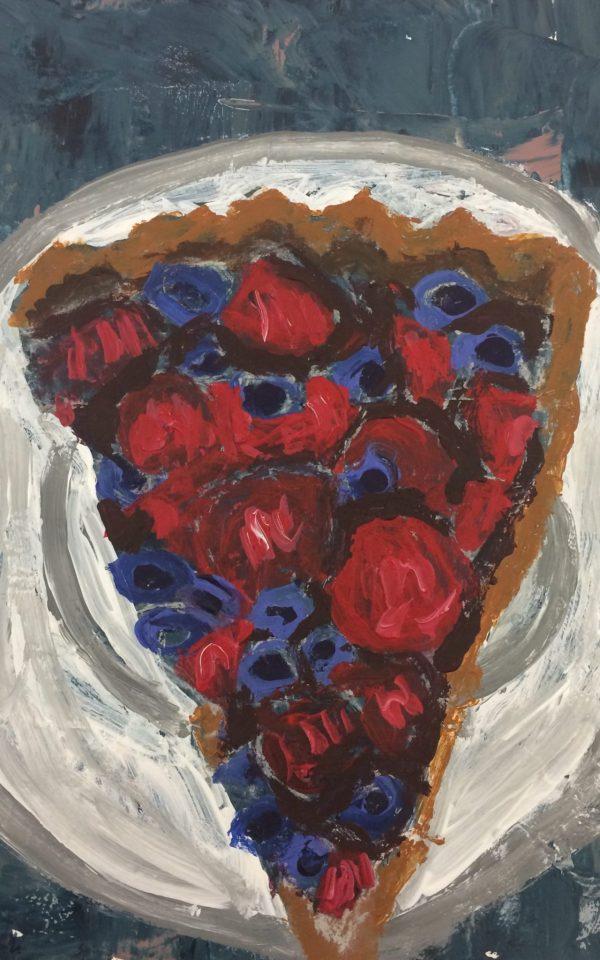 ADM Fruit Tart 6×9 acrylic $35 5-11