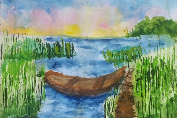 ADM The Natural Path 9×12 Watercolor $35 7-17