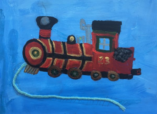 ADM the christmas train 9×12 mixed $35 9-18
