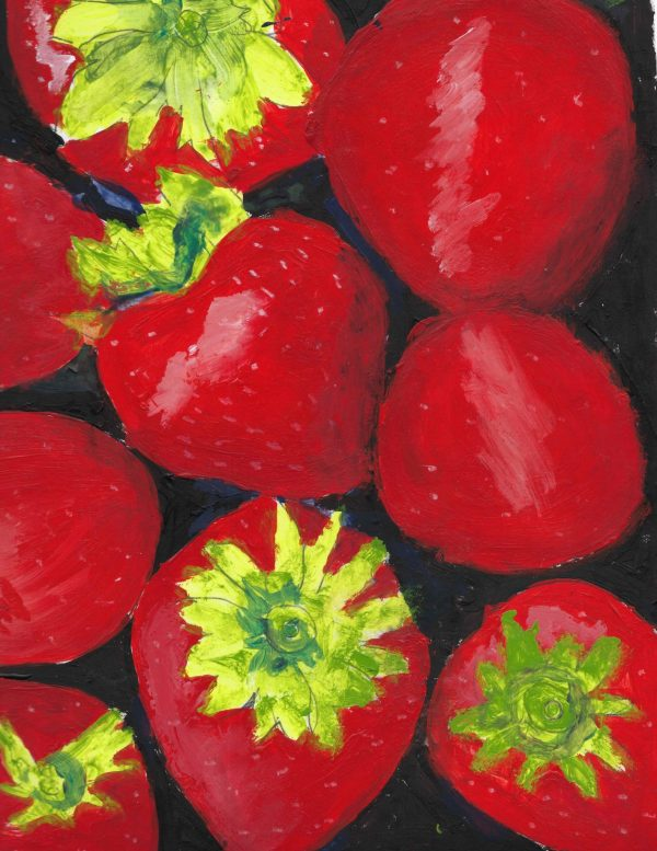 AM strawberry season 9×12 mixed $45 6-18