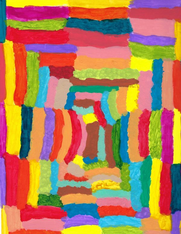 AT a colorful dream 9×12 acrylic $35 4-19