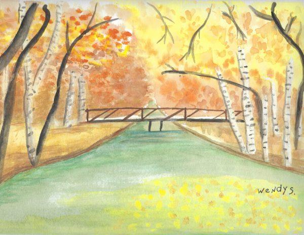 WS FallRiverRamble 9×12 Watercolor $40 09-16