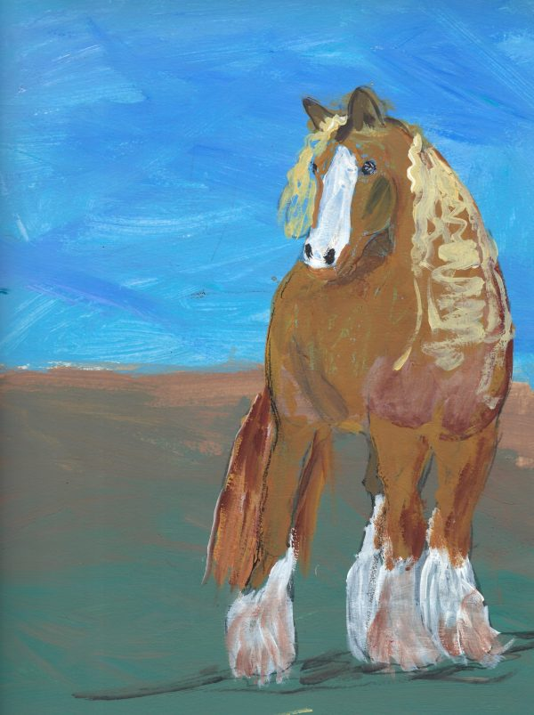 BW The Clydesdale 9×12 Acrylic $40 4.2016