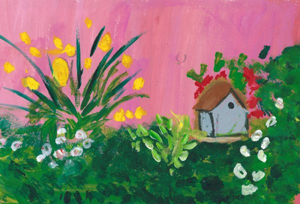 BW Tiny House 6×9 Acrylic $35 5.2016