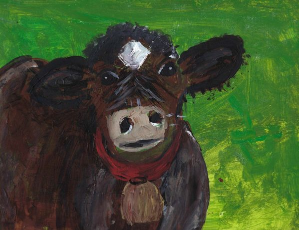 CC How Now Brown Cow 9×12 acrylic 9-18 $40
